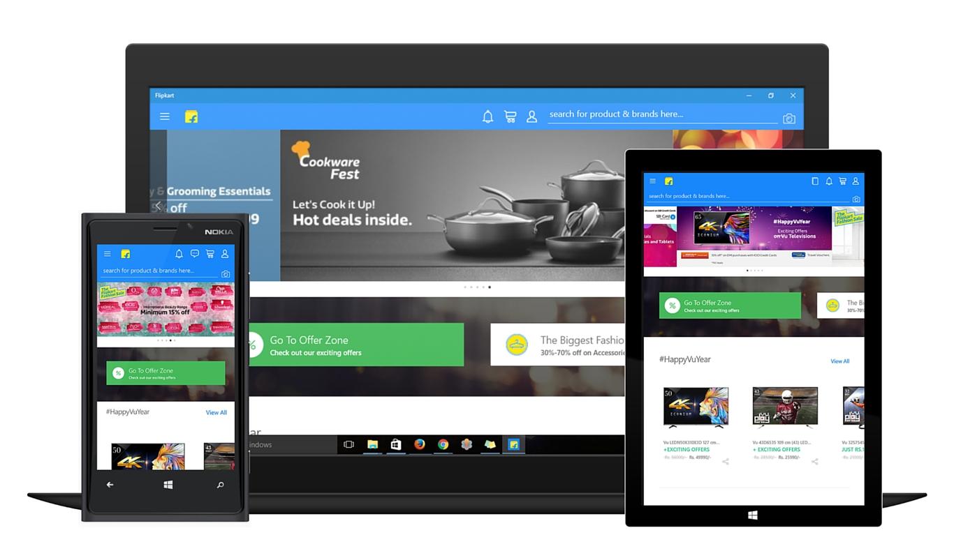 Flipkart launches app for Windows 10