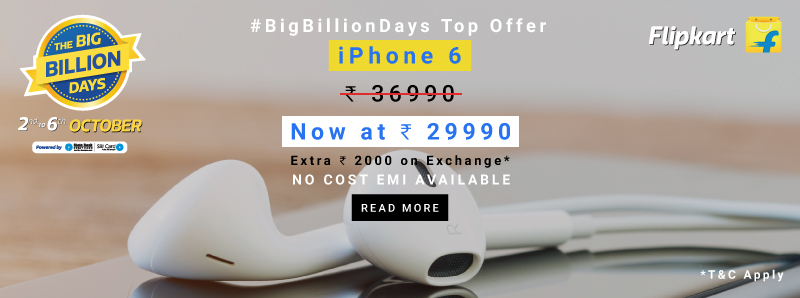 iPhone 6 discounts on Big Billion Days