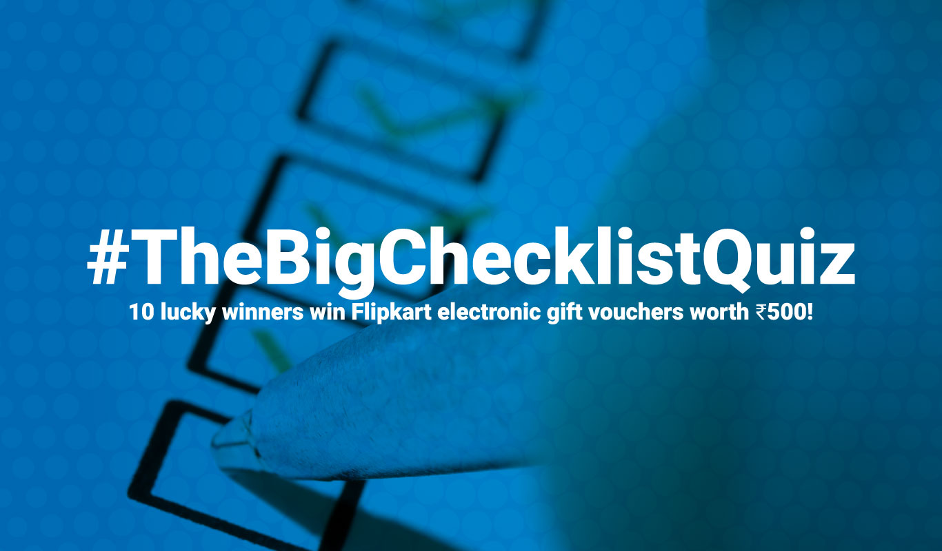 Contest #1 | The Big Checklist Quiz | #TheBigChecklistQuiz