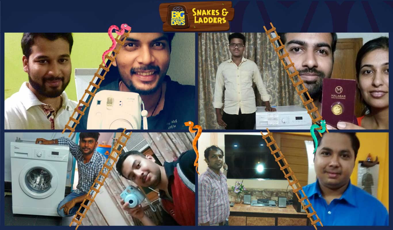 These Flipkart customers got lucky playing Snakes & Ladders!