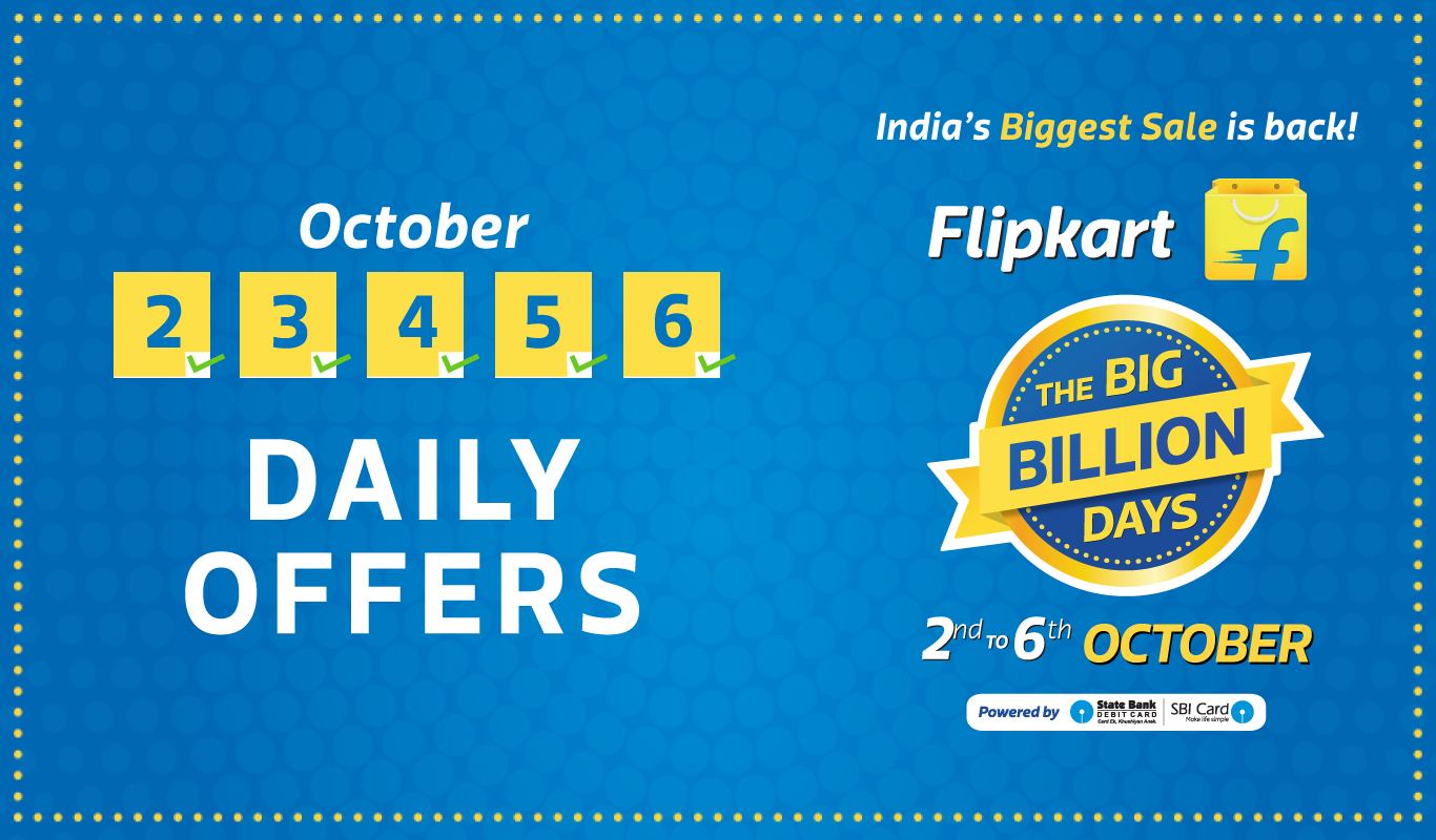 Revealed! The Flipkart Big Billion Days schedule and offers