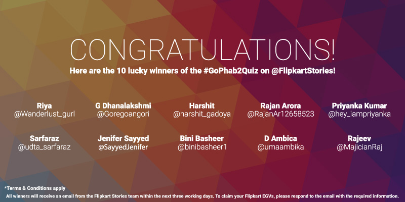#GoPhab2Quiz Contest Winners