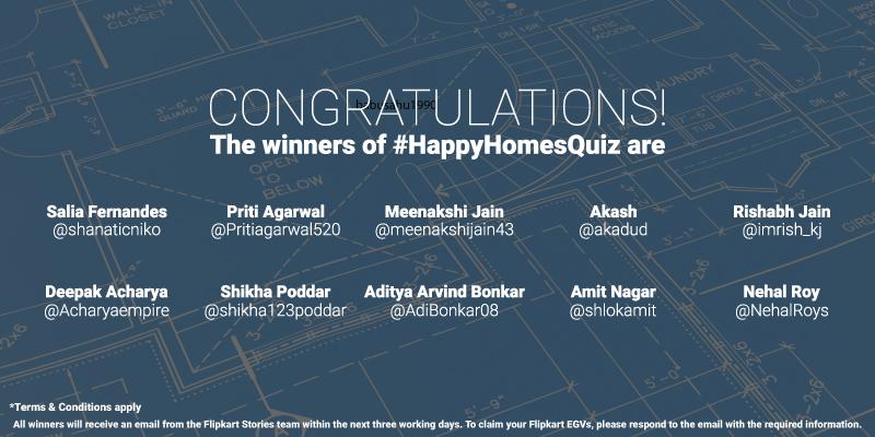 Flipkart Happy Homes Sale Contest