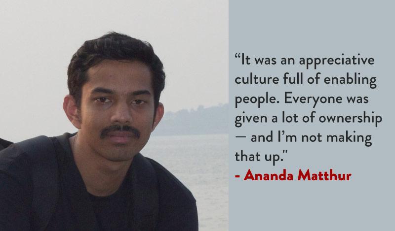 Ananda Matthur on Vinoth Poovalingam
