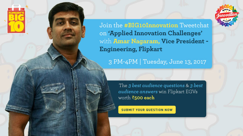 #BIG10Innovation Tweetchat with Amar Nagaram