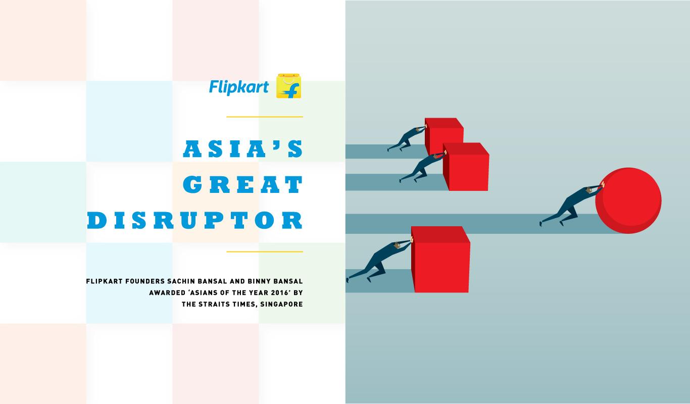 The Disruptors – Asian Of The Year 2016 honors Flipkart founders