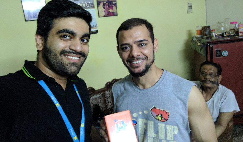 Flipkart Customer Connect - Adhiraj (R) with Flipster Rachit Chaudhary