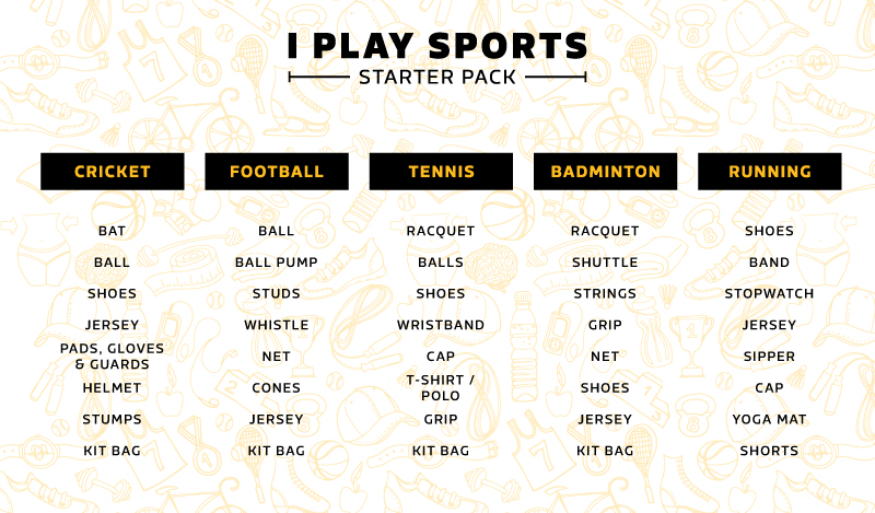 Kit up with the best in sports paraphernalia
