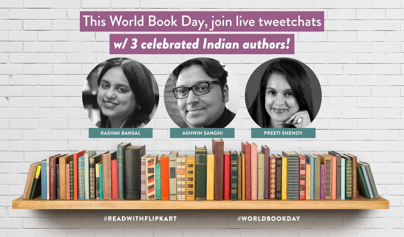 #ReadWithFlipkart – Tweetchats, author interviews and more for World Book Day 2018
