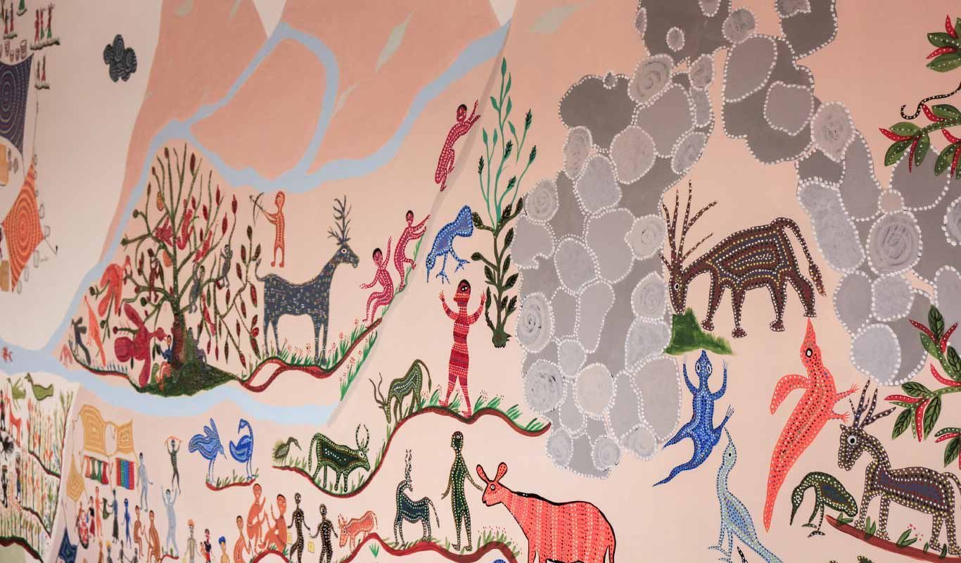 At One Flipkart, a tribal art mural sets the office mood, and tells a proud Indian story