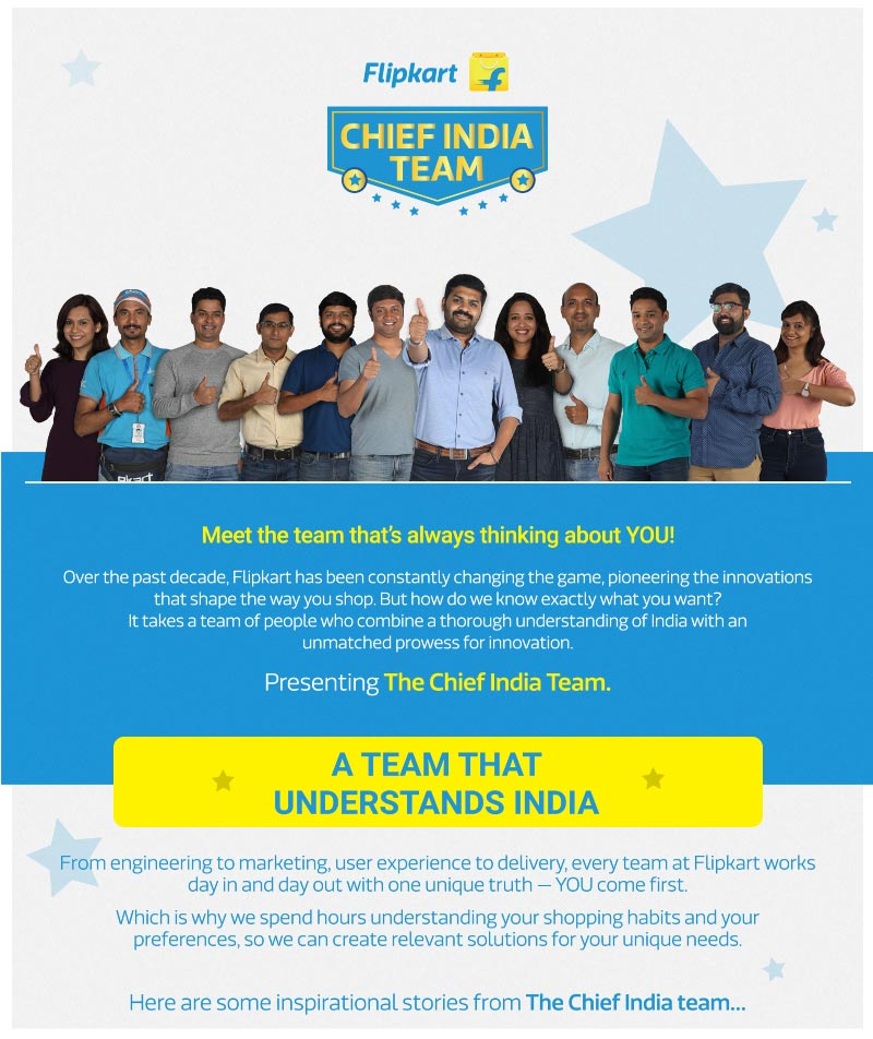 Flipkart Chief India Team - Meet the team that's always thinking about you