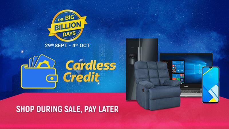 कार्डलेस क्रेडिट – यह बिग बिलियन डेज़ बिक्री, ₹ 1लाख क्रेडिट तक की खरीदारी करें और बाद में भुगतान करें