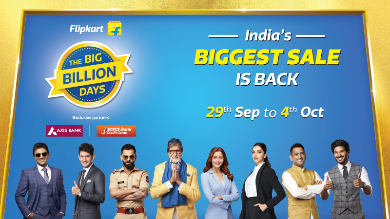 Flipkart's The Big Billion Days 2019 from September 29 to October ...