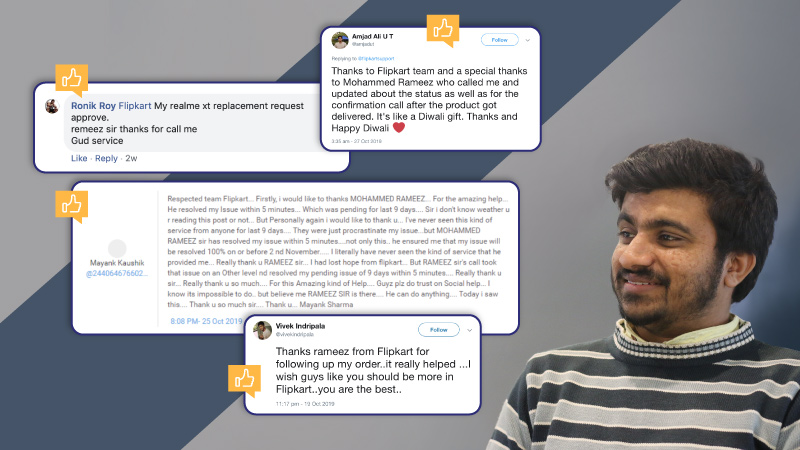 Meet Mohammed Rameez, the Flipkart customer care executive who is a beacon of dependability