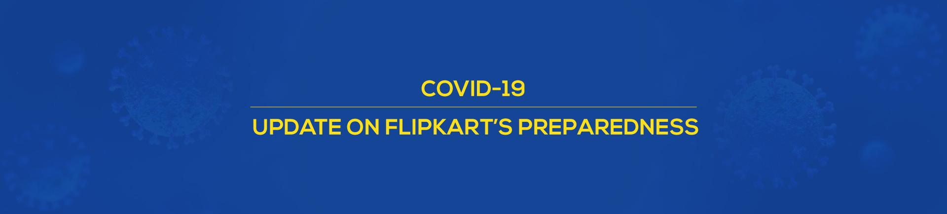 COVID-19 Coronavirus preparedness at Flipkart