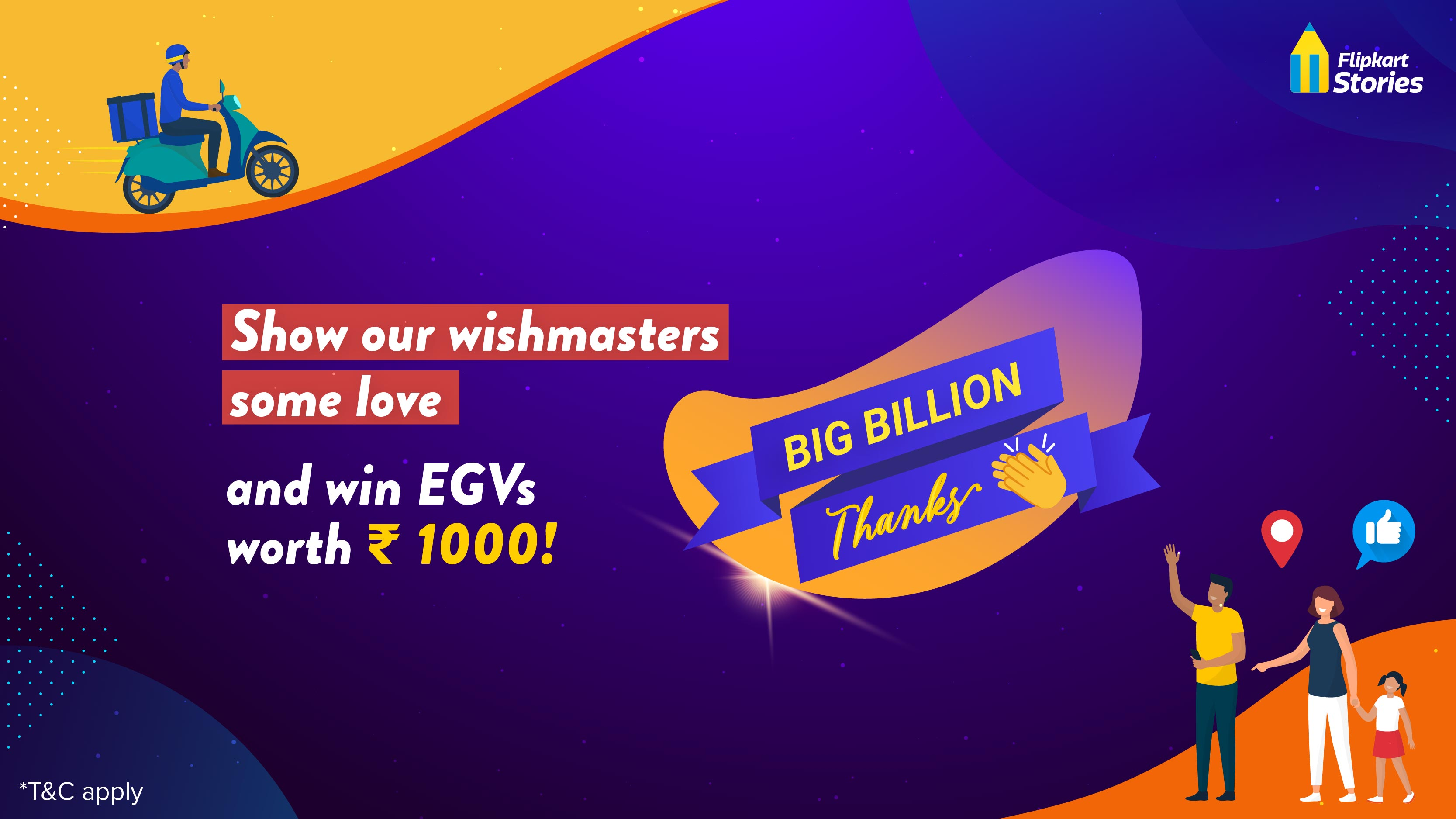 #ContestAlert: Give Flipkart wishmasters the #BigBillionThanks they deserve!