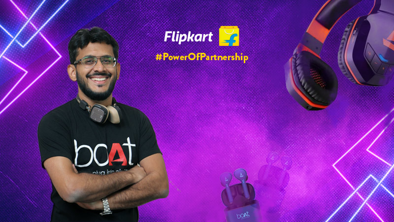 boAt CMO Aman Gupta on the partnership with Flipkart
