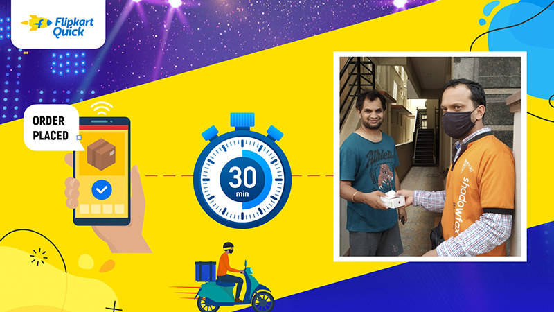 Gone in 30 minutes… Flipkart Quick makes the fastest delivery of The Big Billion Days!