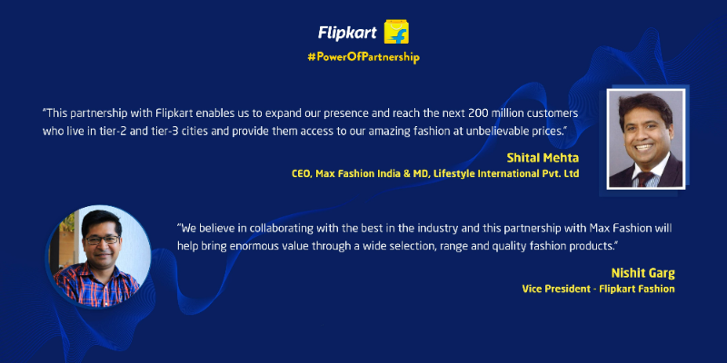 Flipkart Fashion Max Partnership